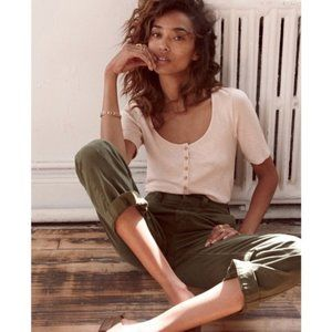 Madewell High Rise Straight Leg Olive Chino Pant